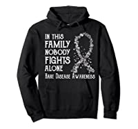 In This Family Nobody Fights Alone Rare Disease T-shirt Hoodie Black