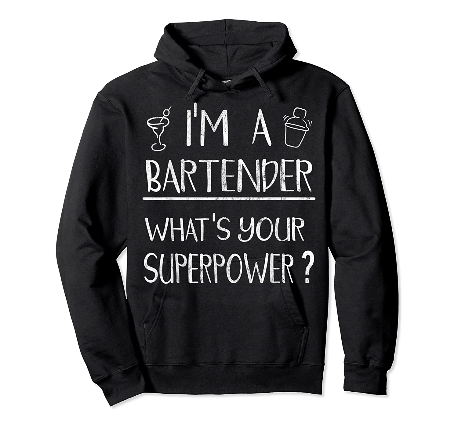Bartender Superpower Funny Cocktail Bar Gift Shirts Unisex Pullover Hoodie