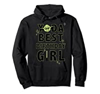 S Yoda Best Birthday Girl Rebel Logo Shirts Hoodie Black