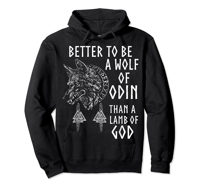 Vikings Wolf Rune Circle Wolf Of Odin Norse Mythology T-shirt Unisex Pullover Hoodie