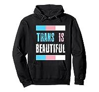 Proud Trans Is Beautiful Transgender Pride Gift Premium T-shirt Hoodie Black