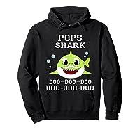 Pops Shark Doo Doo Doo Matching Family Shark Shirts Hoodie Black