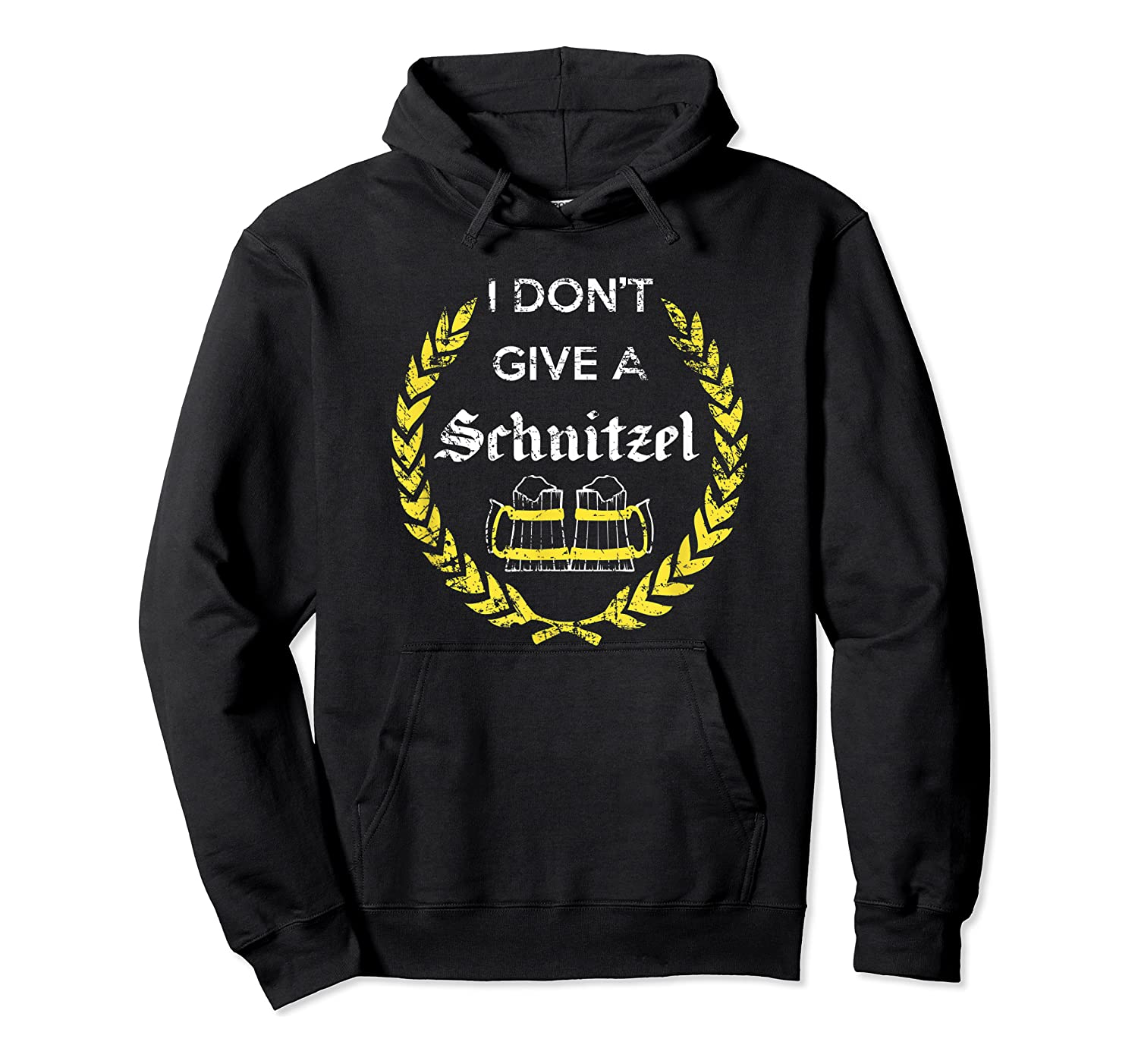 I Don't Give A Schnitzel Shirt, Funny Beer Drinking Gift Unisex Pullover Hoodie