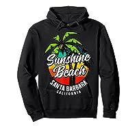 California Hawaii Surf Surfing Board Beach Vintage Retro Shirts Hoodie Black