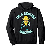 Roller Skating Robot For And Girls Shirts Hoodie Black