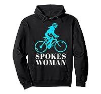 Spokes Woman Cycling Shirts Hoodie Black