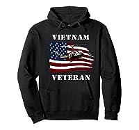 Vietnam Veterans Uh 1 Huey Helicopter American Flag Shirts Hoodie Black