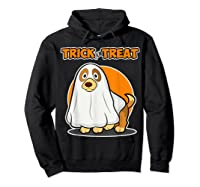 Dog Ghost Halloween Party Trick For Treat Shirts Hoodie Black