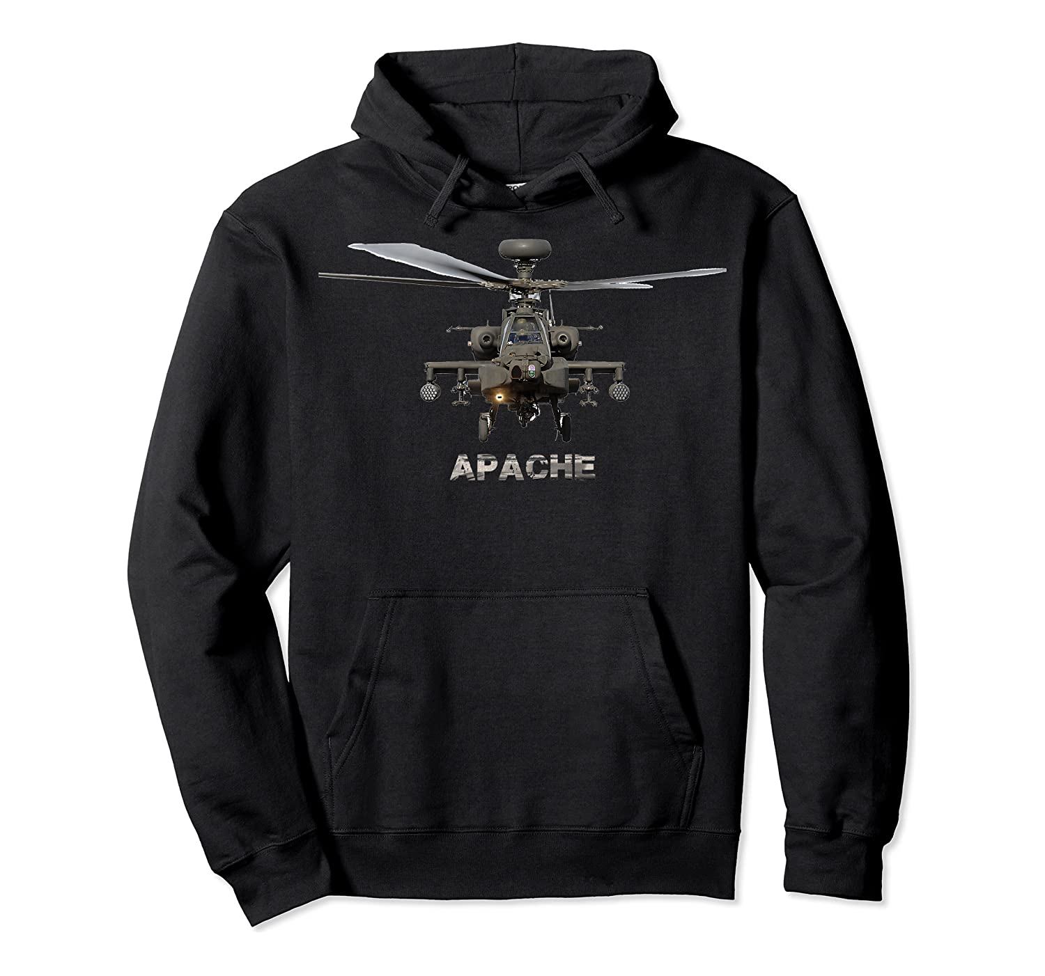 Ah 64 Apache Helicopter T-shirt Unisex Pullover Hoodie