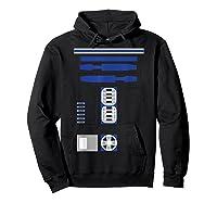 Star Wars R2-d2 Costume T-shirt Hoodie Black