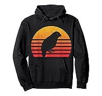 Vintage Retro Sunset Kakapo T-shirt Hoodie Black