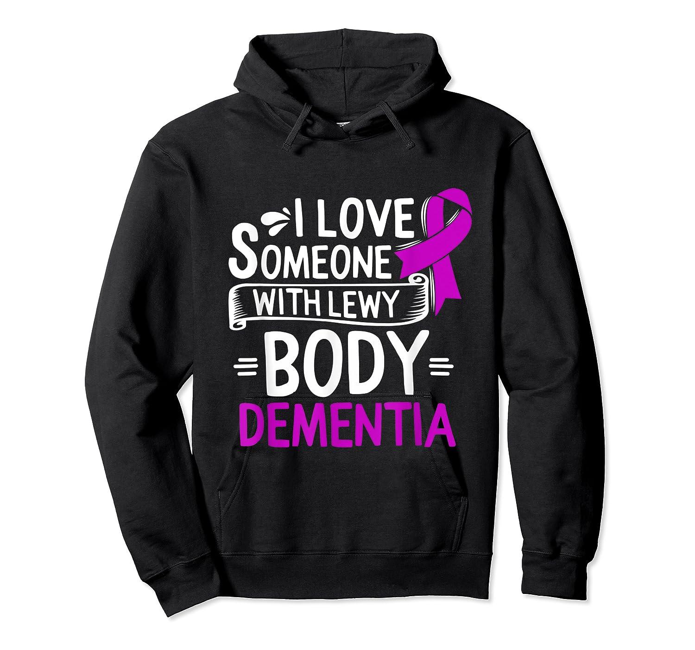 Lewy Body Detia Awareness Purple Ribbon Brain Disease T-shirt Unisex Pullover Hoodie