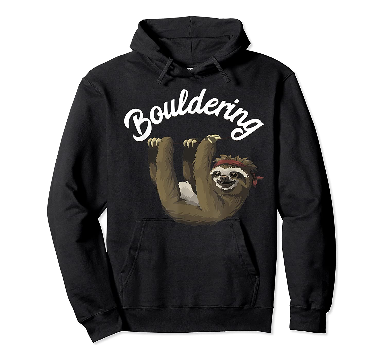 Funny Bouldering Sloth T Shirt Free Rock Climbing Animal Unisex Pullover Hoodie