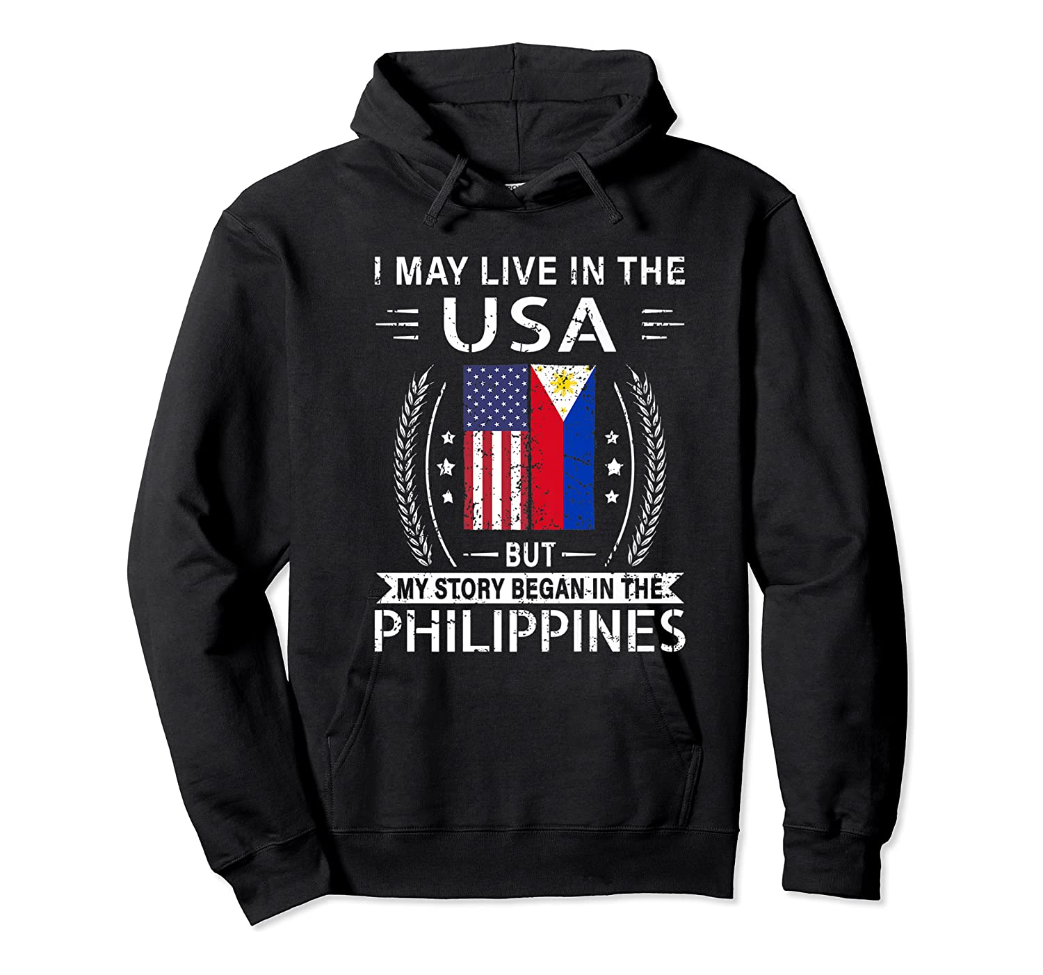 May Live N The Usa The Philippines Flag Shirts Unisex Pullover Hoodie