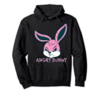 Angry Bunny Rabbit Lovers Cute Bunnies Happy Easter Day Gift Shirts Hoodie Black