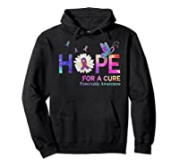 Hope For A Cure Pancreatic Cancer Butterfly Flower Shirts Hoodie Black