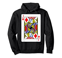 Jack Of Diamonds Playing Card Group Costume Poker Player T-shirt Hoodie Black