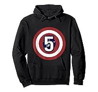 Superhero Comic Birthday T Shirt 5 Year Old Hoodie Black