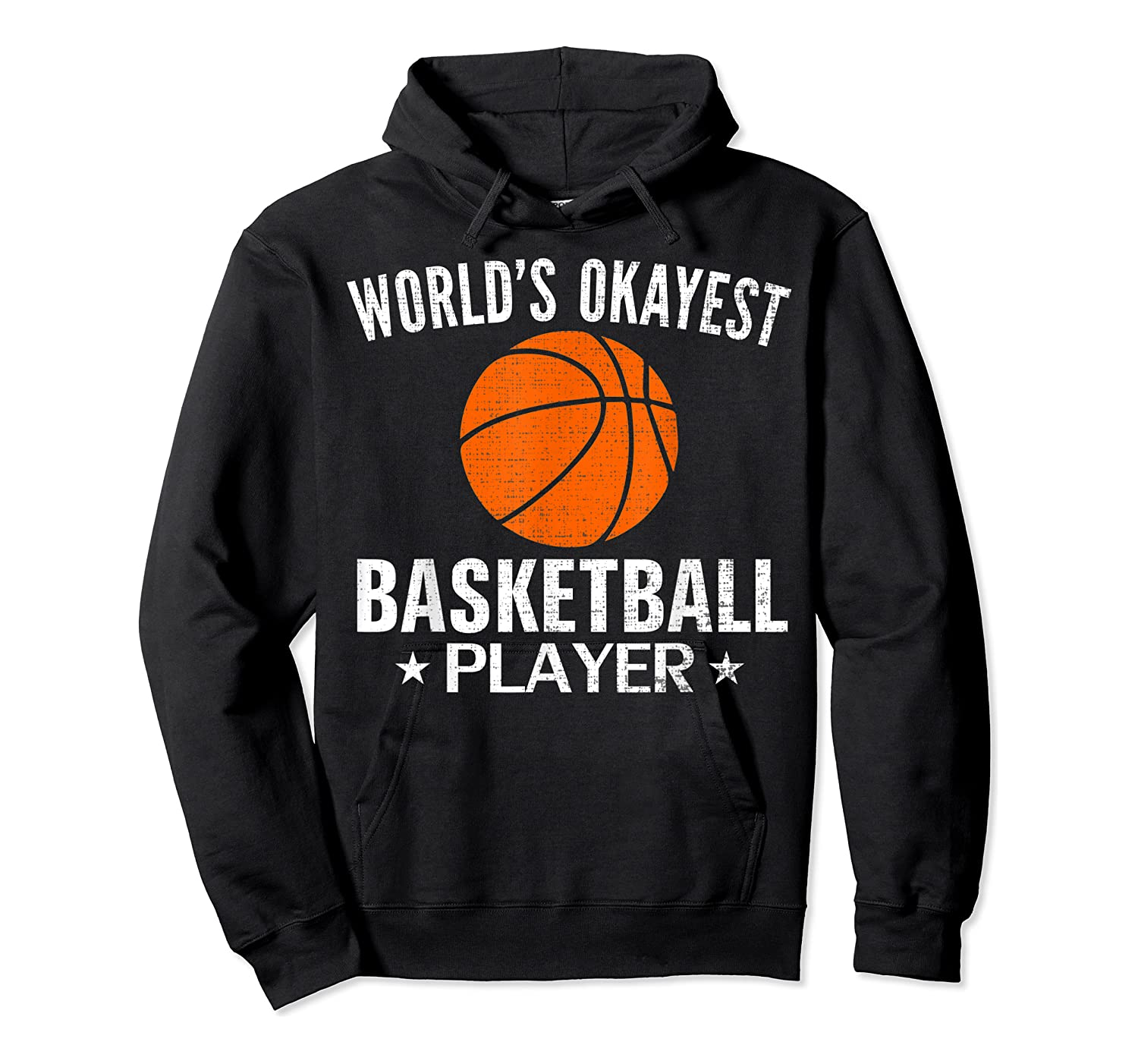 Vintage World's Okayest Basketball Player Funny Sports Gift Shirts Unisex Pullover Hoodie