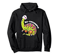 Boo Ghost Dinosaur Cute Brontosaurus Funny Halloween Gift Premium T-shirt Hoodie Black