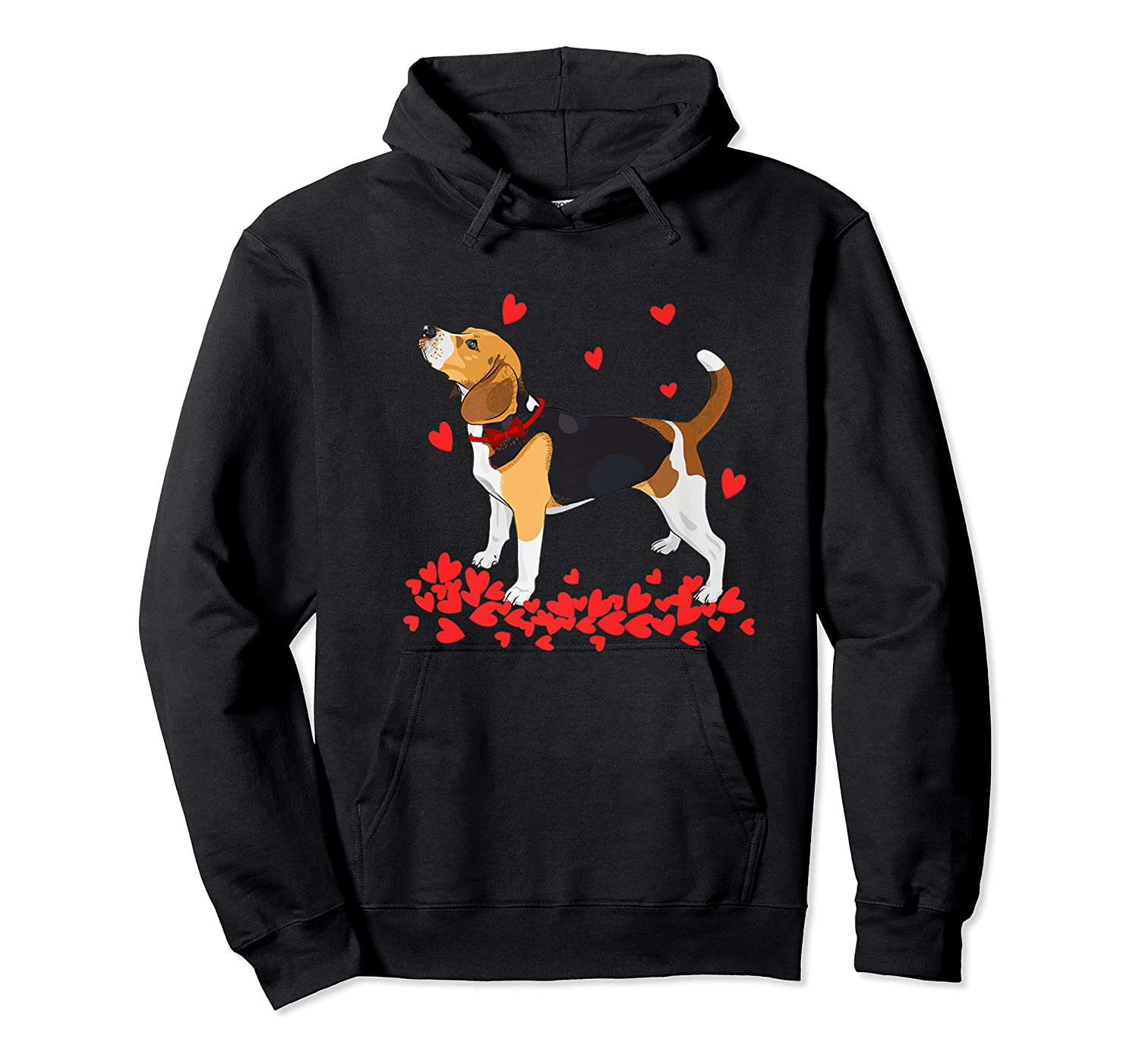 I Love My Beagle T Shirt Valentine Gift For Beagle Unisex Pullover Hoodie