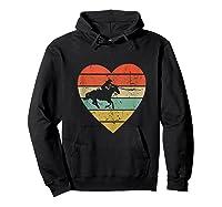 Roping Vintage Design Retro Horse Calf Roper Heart Sport Fan Tank Top Shirts Hoodie Black