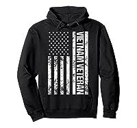 American Flag Vietnam Veteran T-shirt Hoodie Black