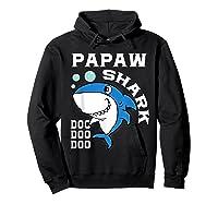 Papaw Shark Halloween Christmas Gift Shirts Hoodie Black
