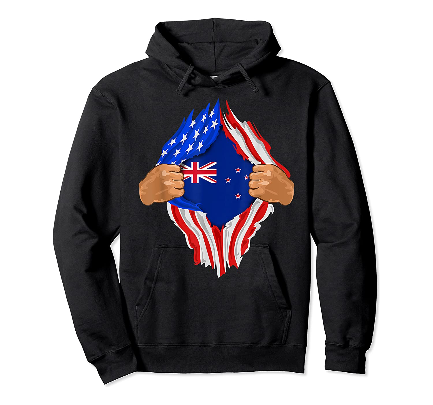 New Zealand Blood Inside Me T-shirt   New Zealand Flag Gift Unisex Pullover Hoodie