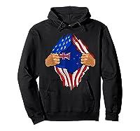 New Zealand Blood Inside Me T-shirt   New Zealand Flag Gift Hoodie Black