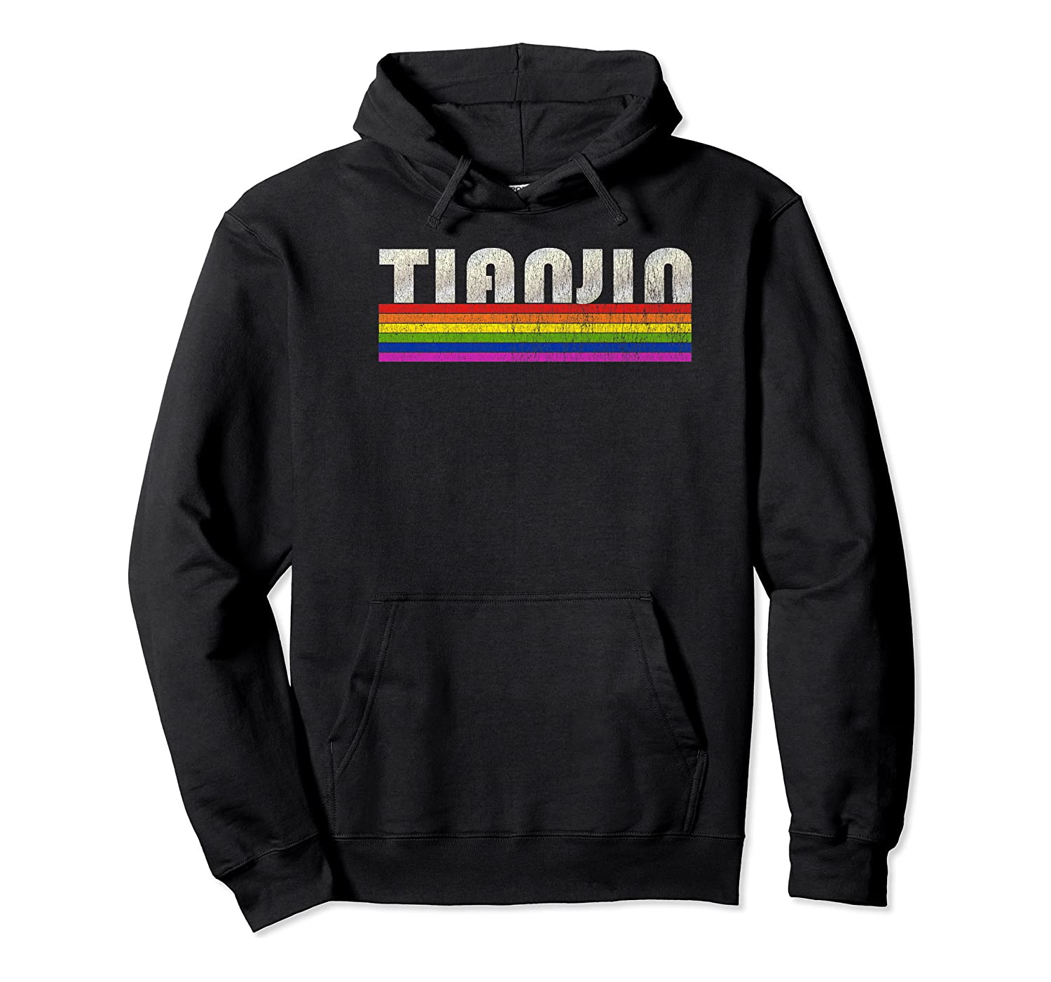 Vintage 80's Style Tianjin Gay Pride Month Shirts Unisex Pullover Hoodie