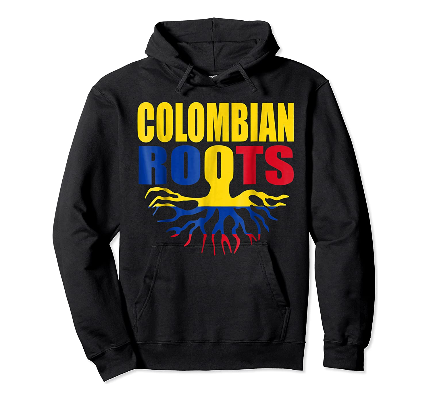 Storecastle Colombian Roots Colombia Flag Pride Shirts Unisex Pullover Hoodie