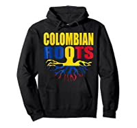 Storecastle Colombian Roots Colombia Flag Pride Shirts Hoodie Black