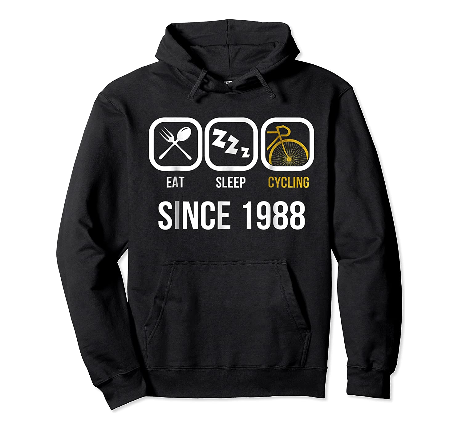 Eat Sleep Cycling Since 1988 T-shirt 30th Birthday Gift Tee Unisex Pullover Hoodie