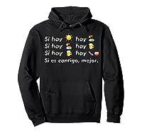 Si Hay Playa Hay Alcohol - Callaita Trap Bunny Emoji T-shirt T-shirt Hoodie Black