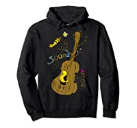 The Sound Of Guitar Tree Nature Shirts Hoodie Black