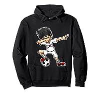 Dabbing Soccer Boy South Korea, Korean Flag Shirts Hoodie Black