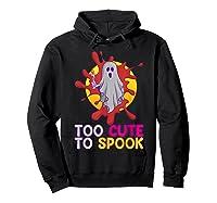 Cute Ghost Girls Costume Spooky Halloween T-shirt Hoodie Black