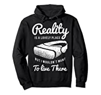 Virtual Reality Hmd Interactive Game Vr Headset Shirts Hoodie Black