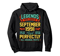 Legends Were Born In September 1991 29th Birthday Gifts Shirts Hoodie Black