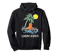 The Lion King Simba Spring Palm Tree Shirts Hoodie Black