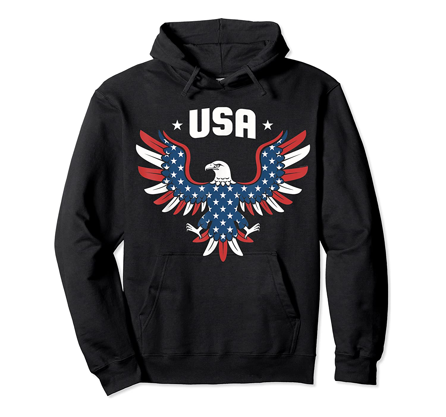 Patriotic American Flag Bald Eagle Usa T Shirt  Unisex Pullover Hoodie