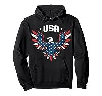 Patriotic American Flag Bald Eagle Usa T Shirt  Hoodie Black