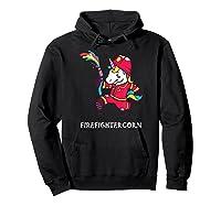 Firefightercorn Funny Unicorn As Firefighter Shirts Hoodie Black