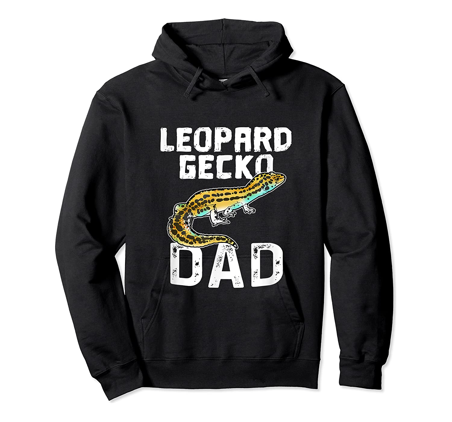 Funny Leopard Gecko Graphic Lizard Lover Reptile Dad Gift T-shirt Unisex Pullover Hoodie