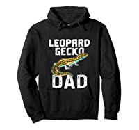 Funny Leopard Gecko Graphic Lizard Lover Reptile Dad Gift T-shirt Hoodie Black