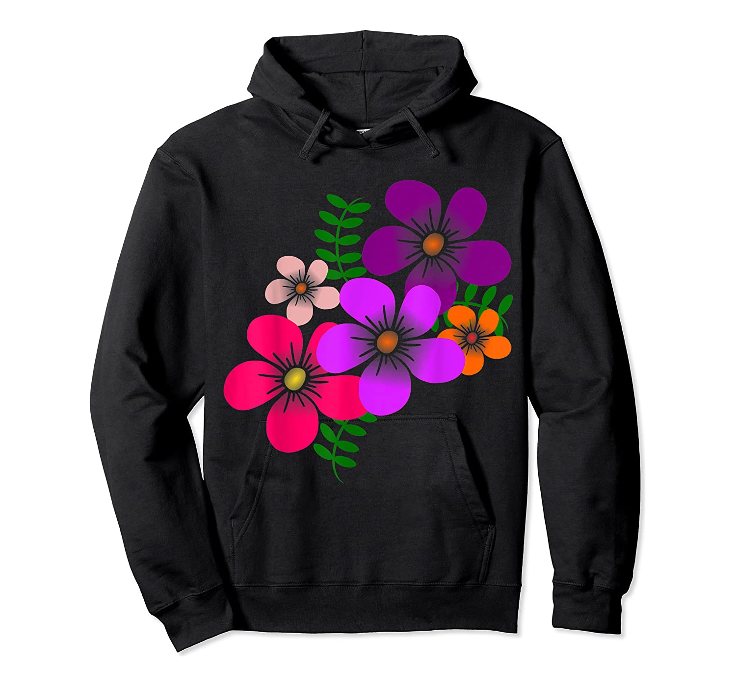 Blooming Flower, Blooms, Blossoms, Garden, Bunch Of Flowers T-shirt Unisex Pullover Hoodie