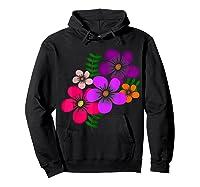 Blooming Flower, Blooms, Blossoms, Garden, Bunch Of Flowers T-shirt Hoodie Black