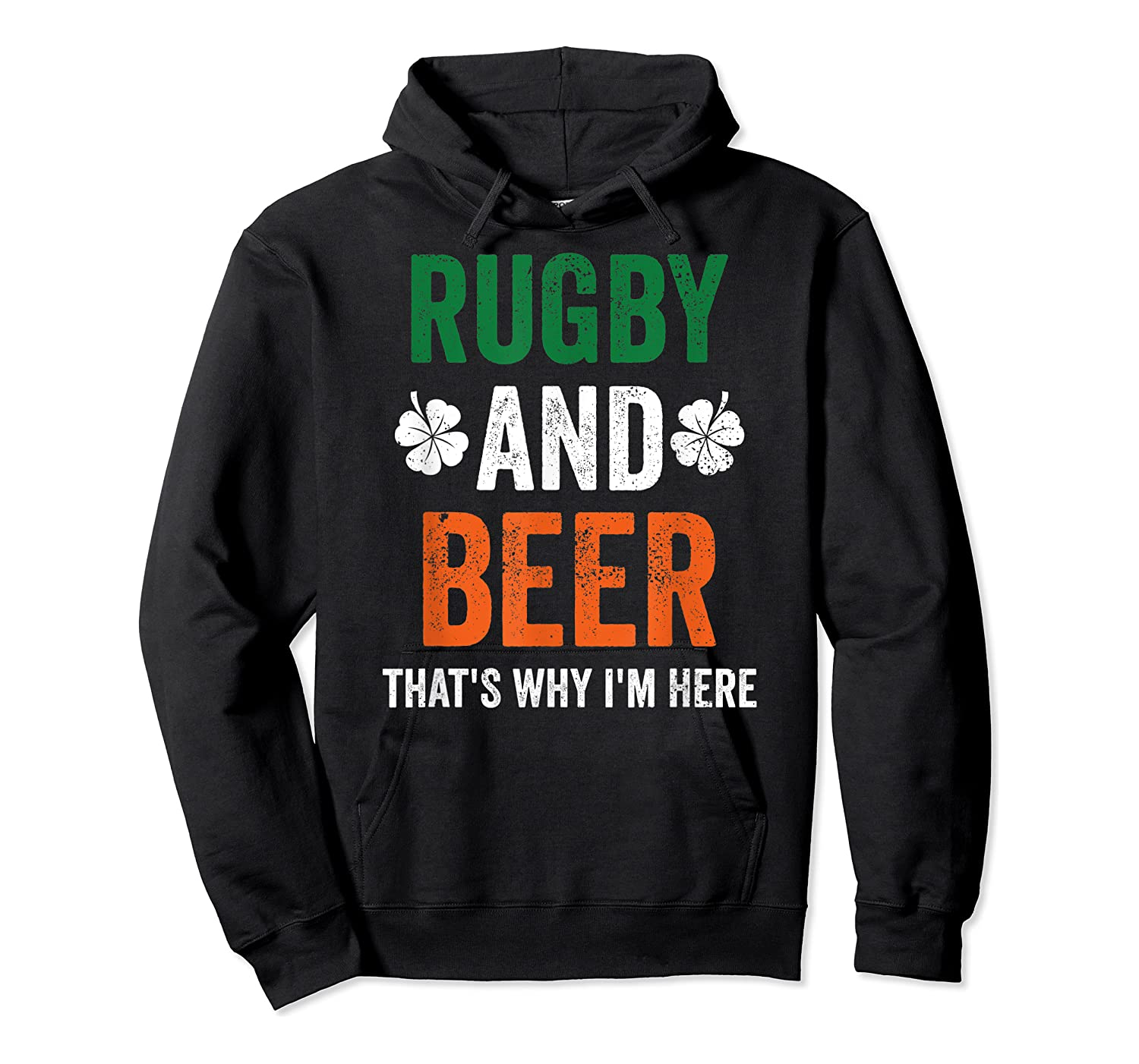 Rugby And Beer Funny Alcohol Outs For St Patricks Day T-shirt Unisex Pullover Hoodie