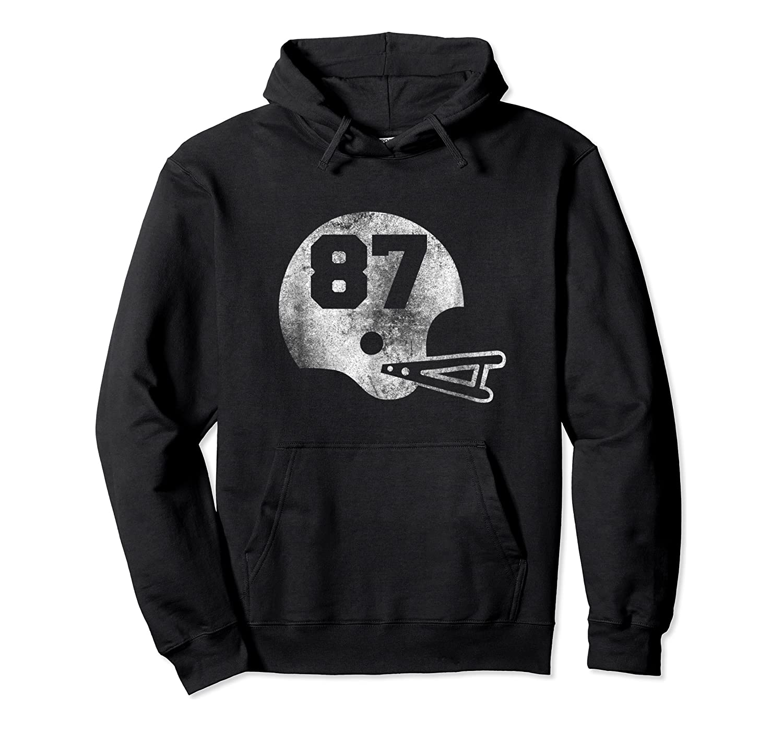 Vintage Football Number 87 T-shirt Player Number Unisex Pullover Hoodie